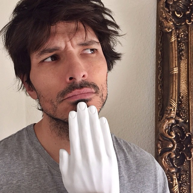 Andres Velencoso Segura in the midst of deep thoughts