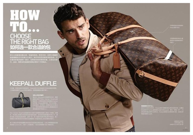 Arthur Kulkov & Zhao Lei Model Louis Vuitton Fashions & Accessories for GQ China Spread