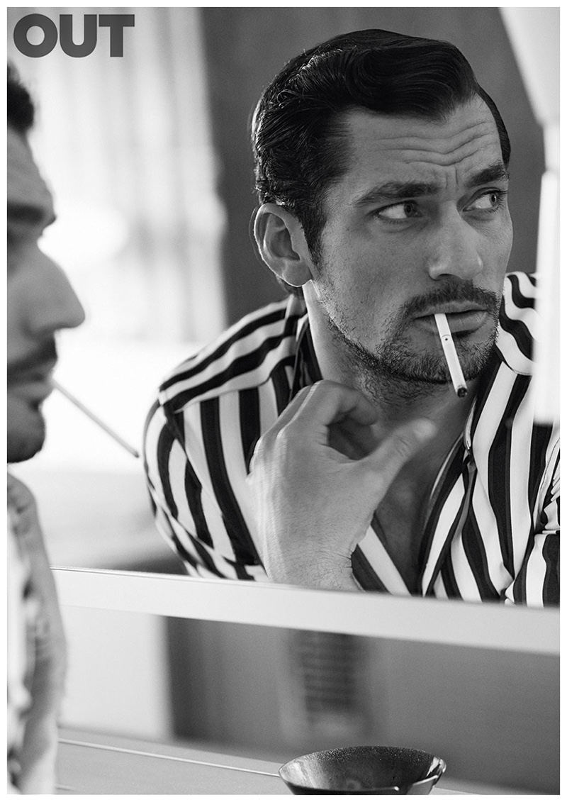 David Gandy for OUT magazine.