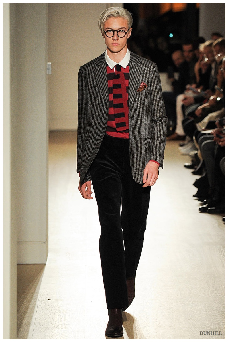 Dunhill, Hardy Amies + More   Sartorial Fashions at London Collections: Men Fall/Winter 2015