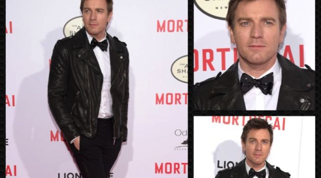Ewan McGregor attends the Los Angeles premiere of Mortdecai.