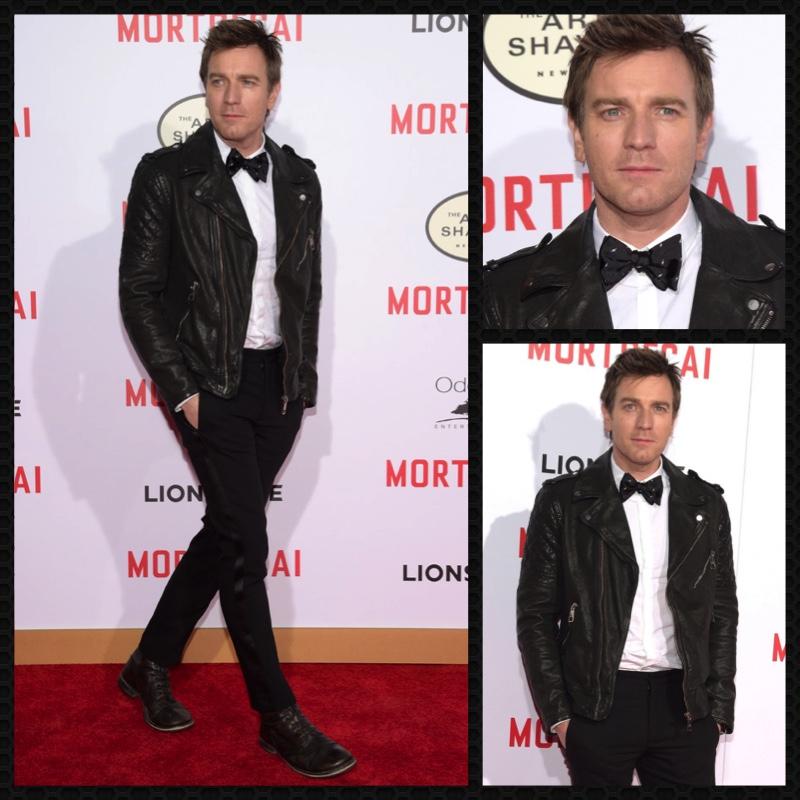 Ewan McGregor attends the Los Angeles premiere of  Mortdecai.