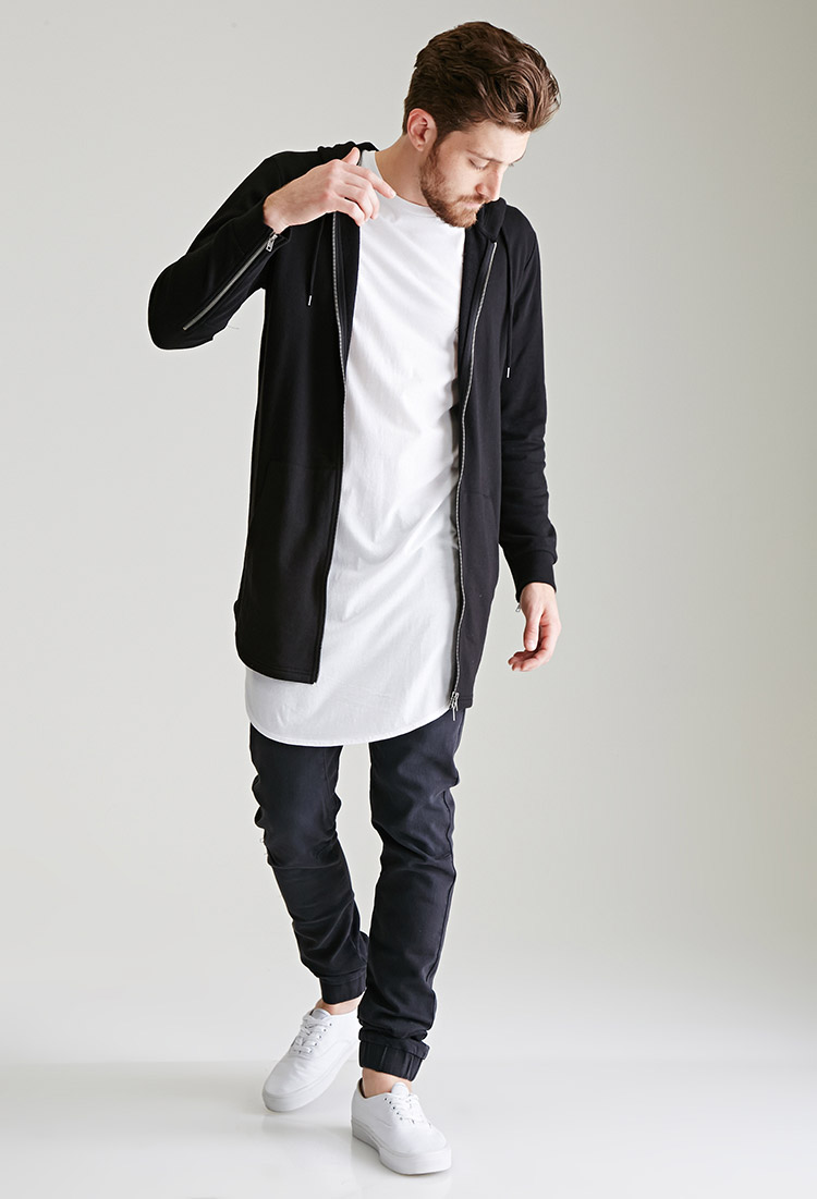 Forever 21 Men New Arrivals  Longline Hoodie f9a9b106012