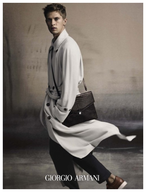 4330b479dca6 First Look  Mathias Lauridsen for Giorgio Armani Spring Summer 2015 Men s  Campaign