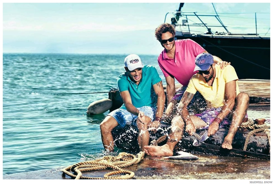 Evandro Soldati, Mihaly Martins & Rafael Lazzini Embrace Nautical Style for Highstil Campaign