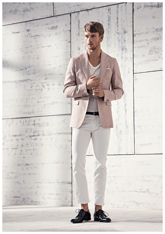 Benjamin Eidem Models Soft Hues for J.Lindeberg Spring/Summer 2015 Campaign