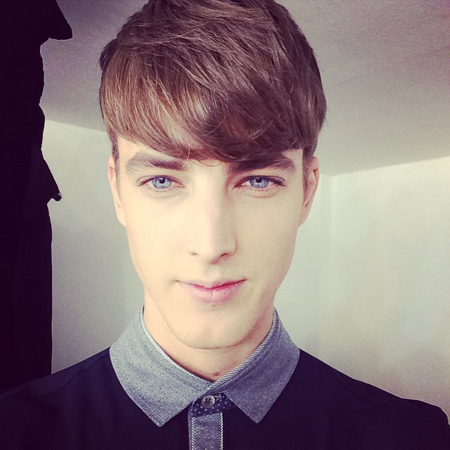 James Smith shares a selfie from the set