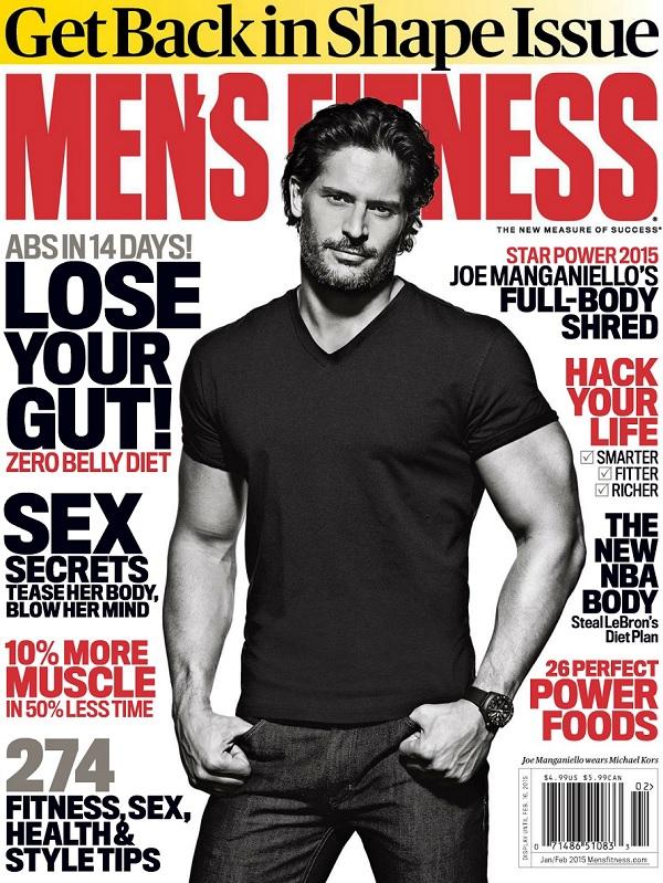 Joe Manganiello Covers Men's Fitness January/February 2015 Issue