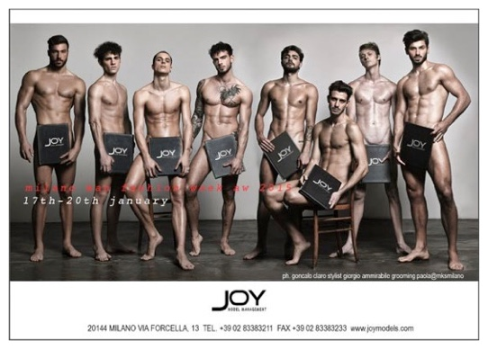 Joy Models Go Nude for Fall/Winter 2015 Show Package: Milan Fashion Week