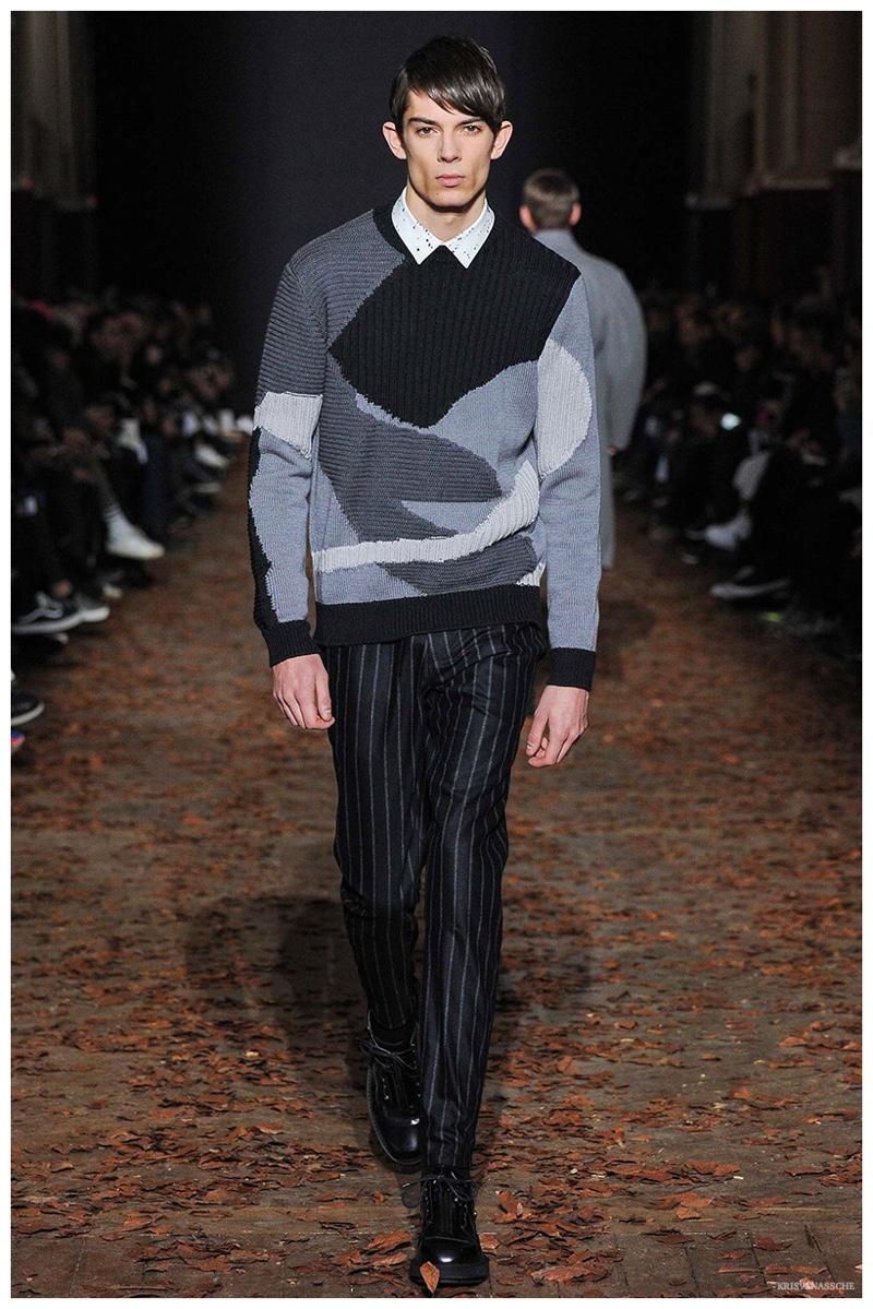 KRISVANASSCHE Fall/Winter 2015 Menswear Collection: 'Concrete', The Urban Soldier