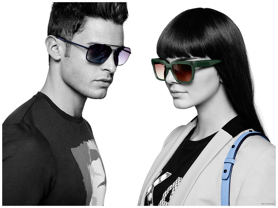 Baptiste Giabiconi Joins Kendall Jenner for Karl Lagerfeld Spring 2015 Campaign