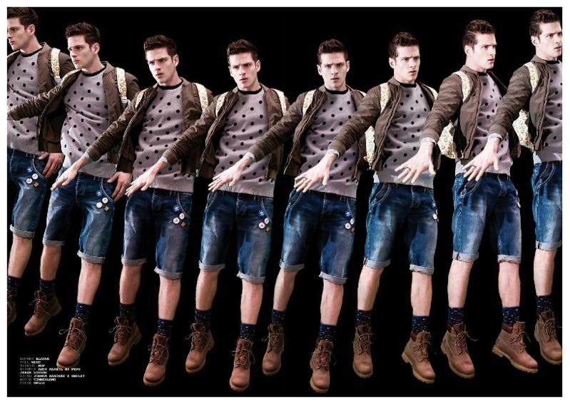 Lucas Mascarini is Multiplied in Men's Streetwear Inspired Looks for New WU Shoot