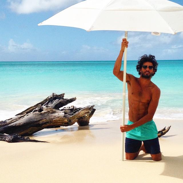 Marlon Teixeira enjoys a Caribbean vacation