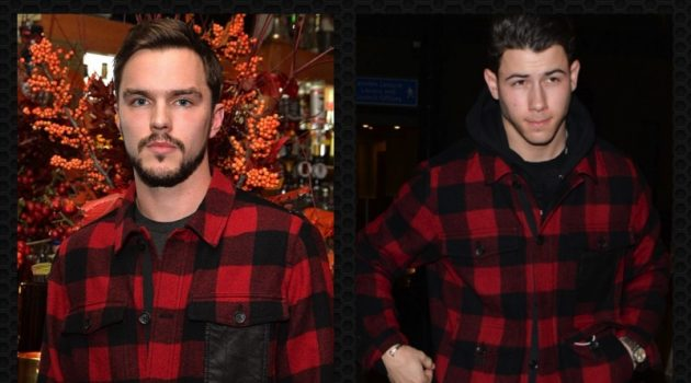 Left: Nicholas Hoult celebrates the holidays with Coach. Right: Nick Jonas pictured in London recently.