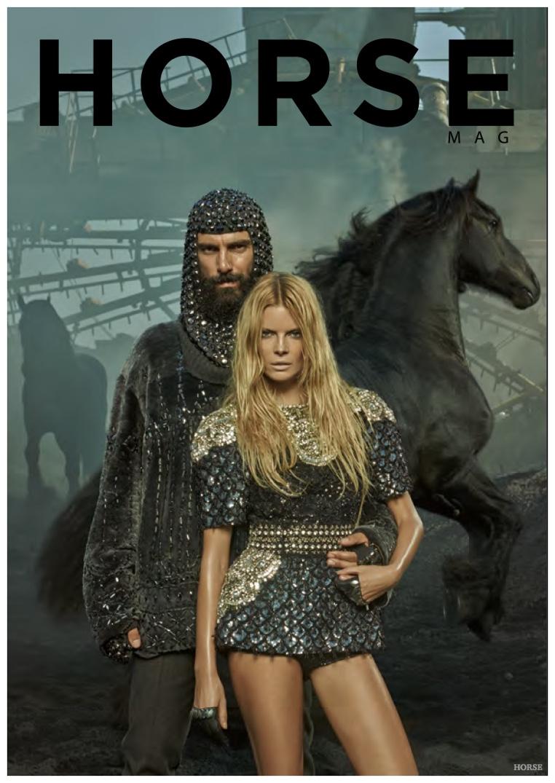 Paraskevas Boubourakas Embraces Medieval Inspired Fashions for Horse Magazine Cover Shoot
