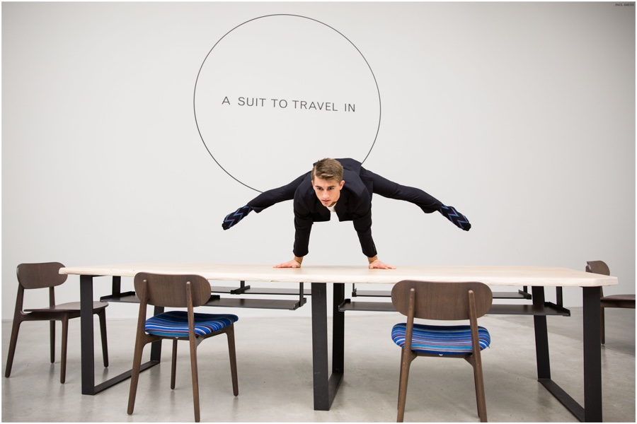 See Paul Smith's Durable Travel Suit in Action