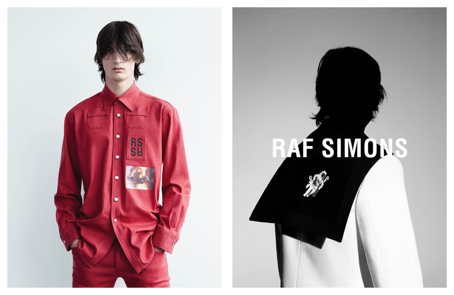 Raf Simons Muse Luca Lemaire Fronts Spring/Summer 2015 Campaign