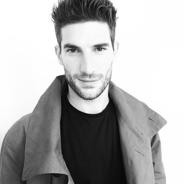 Ryan Barrett takes a selfie in the midst of fashion week castings