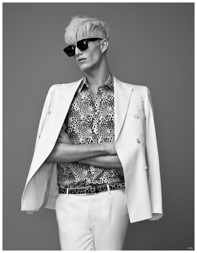 Conor McLain Stuns in White Suiting for SAND Spring/Summer 2015 Campaign