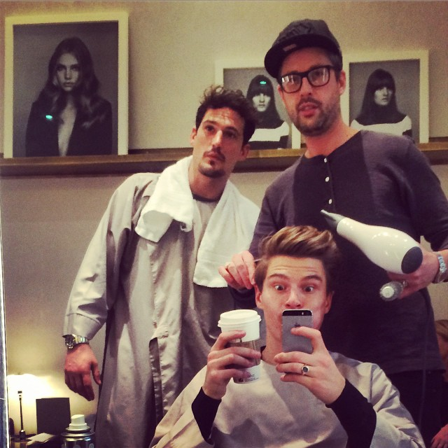 Sam Webb and Oliver Cheshire get their grooming in check for London Collections: Men
