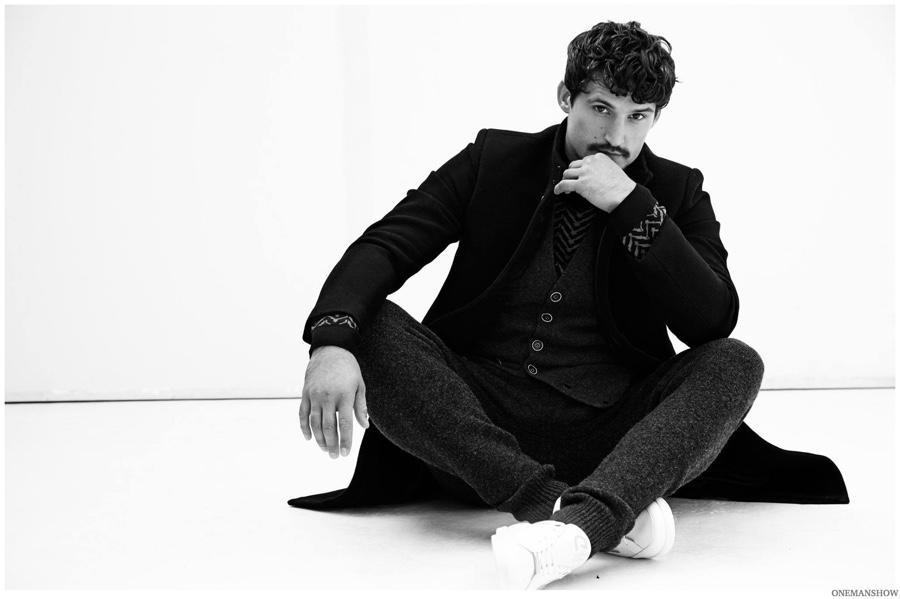 Sam Webb is a Onemanshow in Sleek Winter Garments