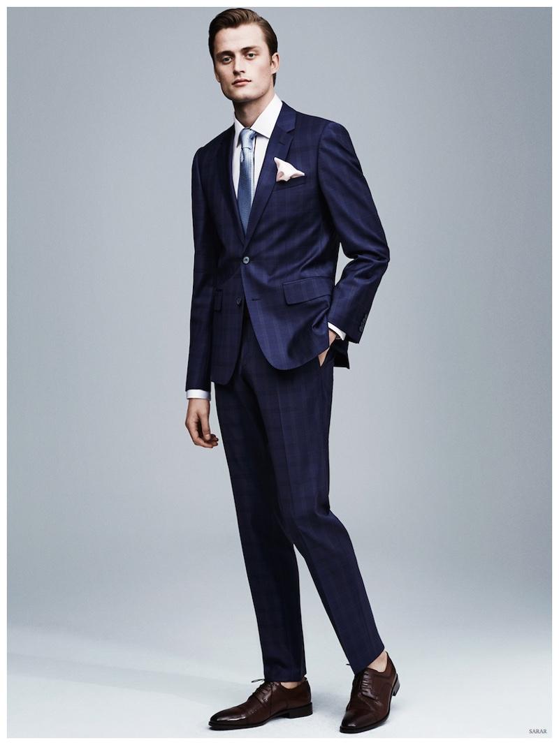 Bastiaan Van Gaalen Dons Sartorial Fashions for Sarar Spring/Summer 2015 Menswear Lookbook