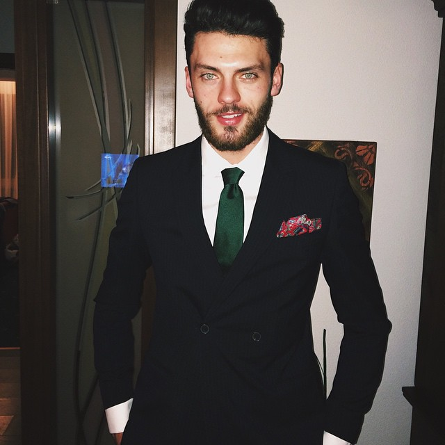 Silviu Tolu cleans up nicely for the year-end celebration