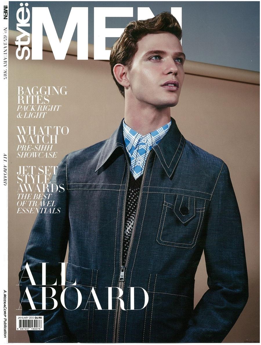 Loammi Goetghebeur Covers Style: Men Singapore in Prada Spring 2015 Look