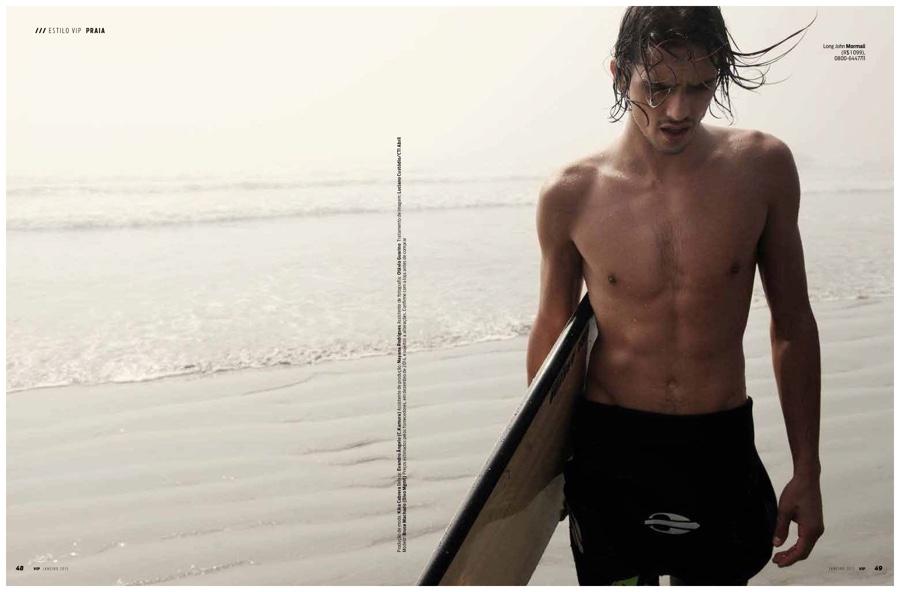 Surf's Up! Bruce Machado Dons Summer Fashions for VIP Brazil Shoot
