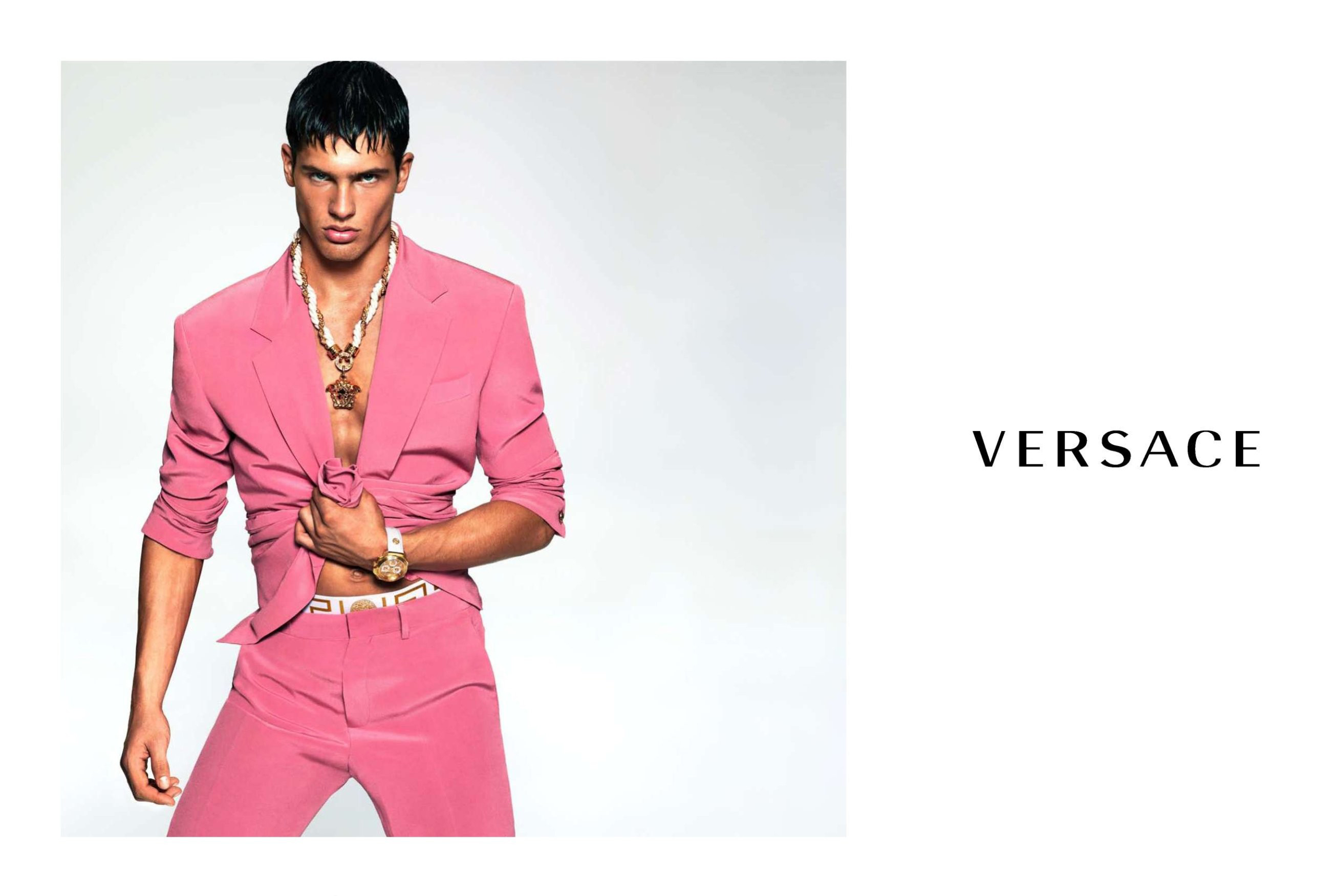 Versace Spring 2015 Ad Campaign Highlights Bright Colored Suits