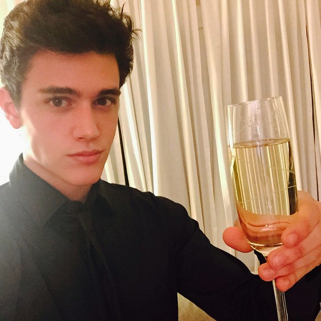 Xavier Serrano shares a toast
