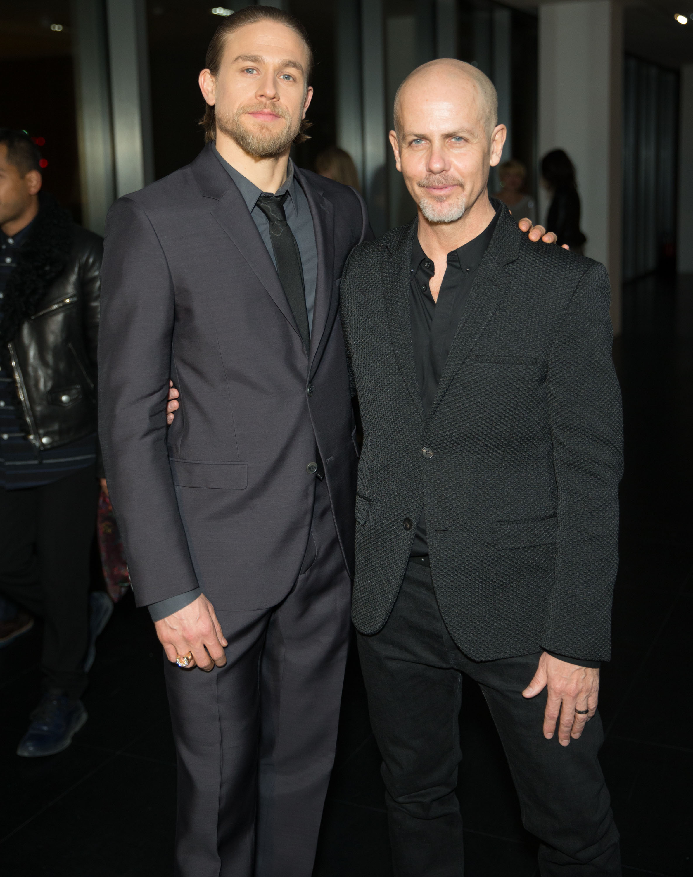 Charlie Hunnam Attends Calvin Klein Collection + Reveal Dinner