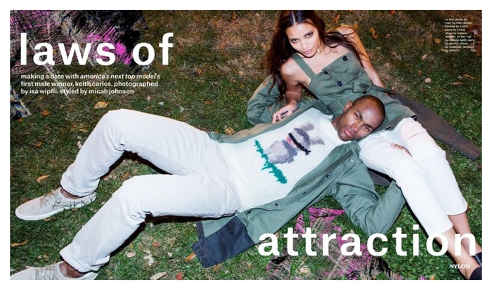 America's Next Top Model Winner Keith Carlos Featured in Nylon February 2015 Photo Shoot