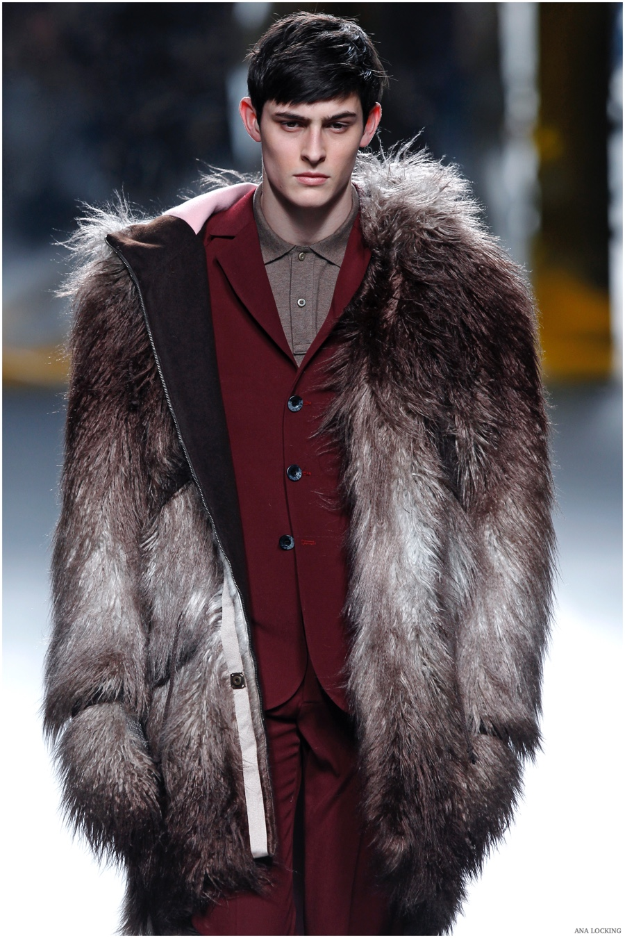 Doppelgänger: Ana Locking Delivers Furs & Prints for Fall/Winter 2015 Menswear Collection