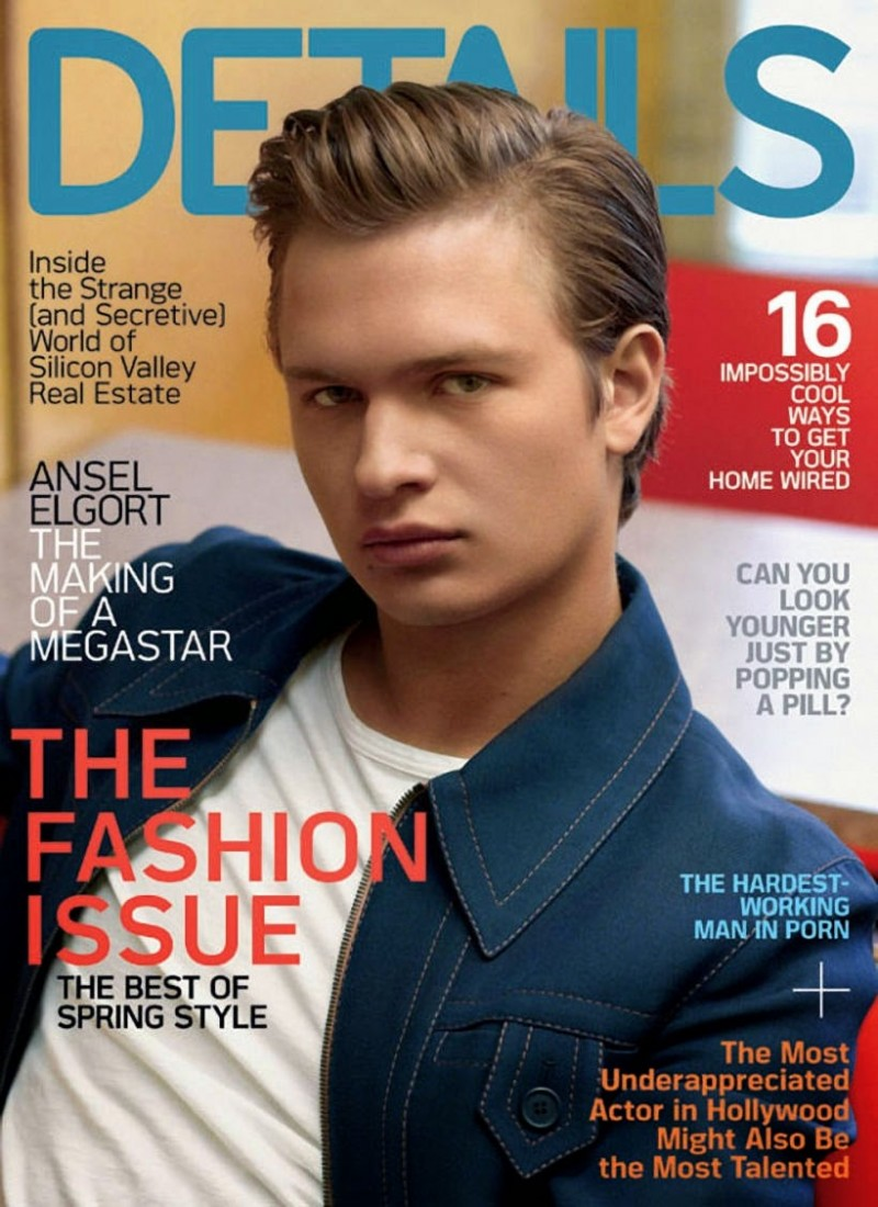 Ansel Elgort Covers Details March 2015 Issue in Prada Spring Look