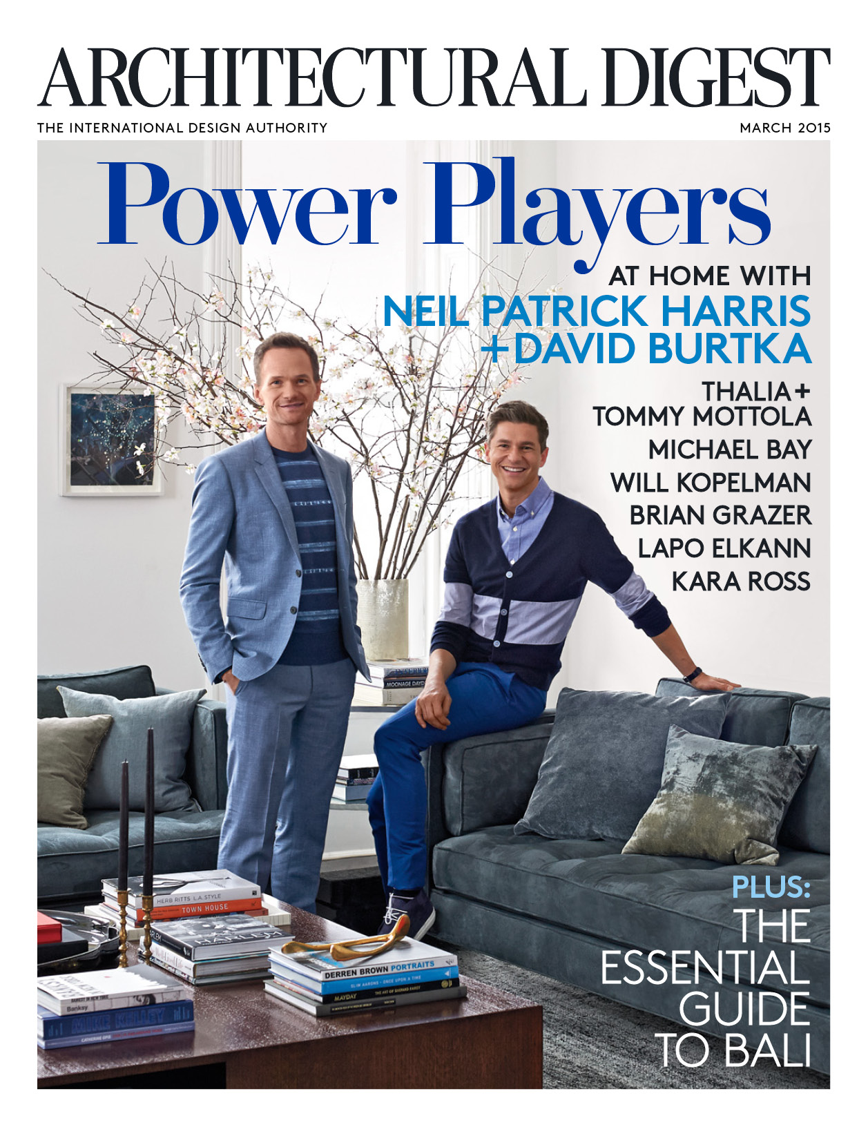 Neil Patrick Harris & David Burtka Open Up Their Harlem Townhouse for Architectural Digest March 2015 Cover Story