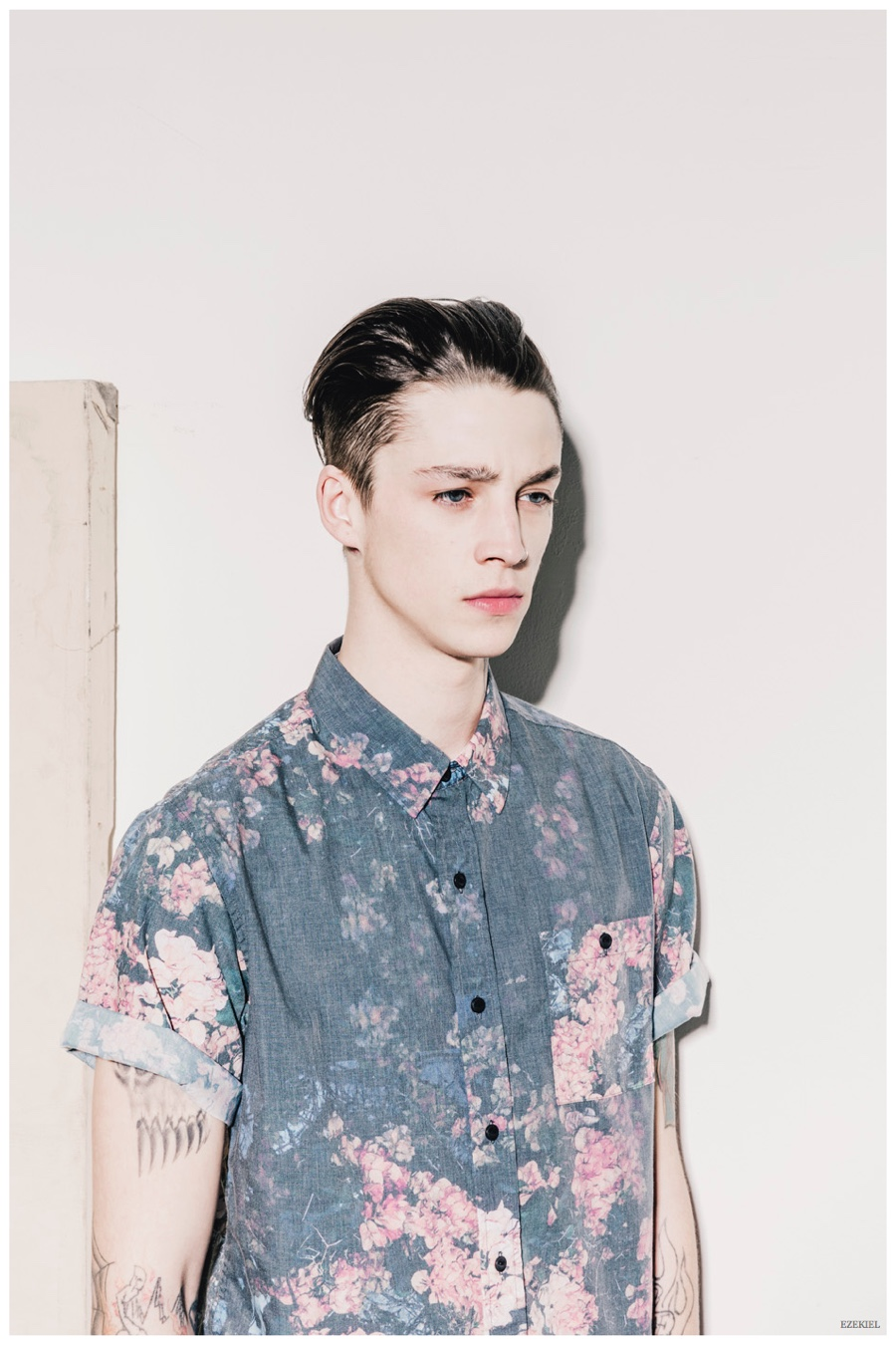 Ash Stymest Models Casual Fashions for Ezekiel Spring 2015 Collection