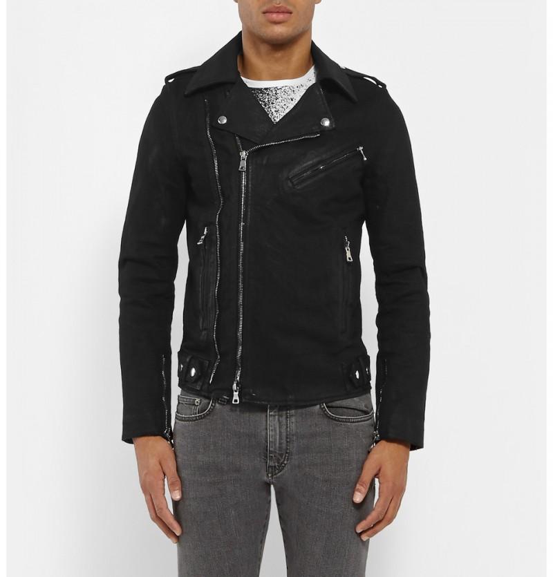 Men S Black Leather Biker Jackets Spring 2015 Edition