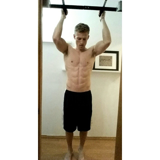 Blaine Cook works out