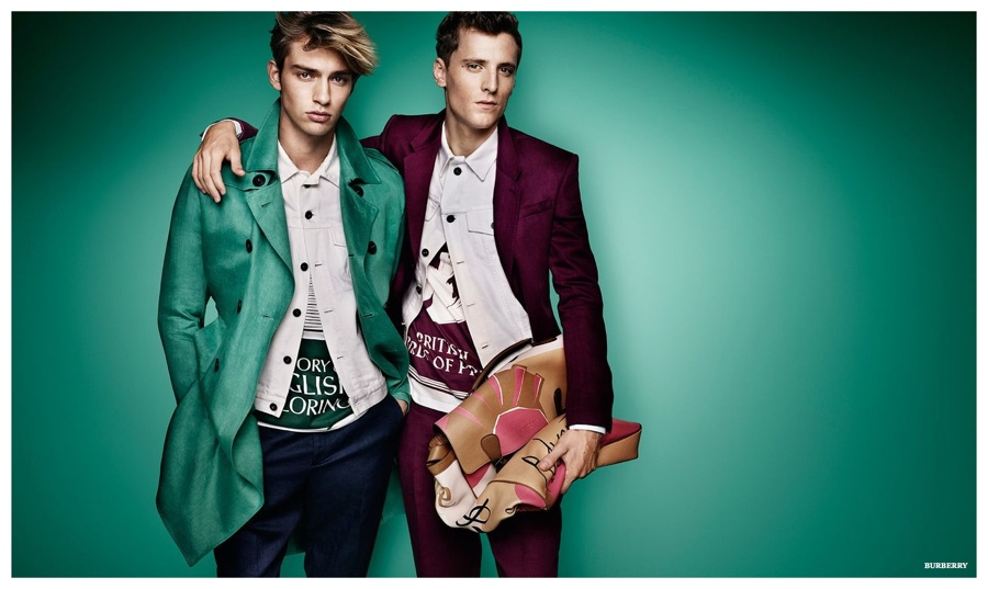 Burberry Spring 2015 Men's Campaign Explodes with Colorful Styles