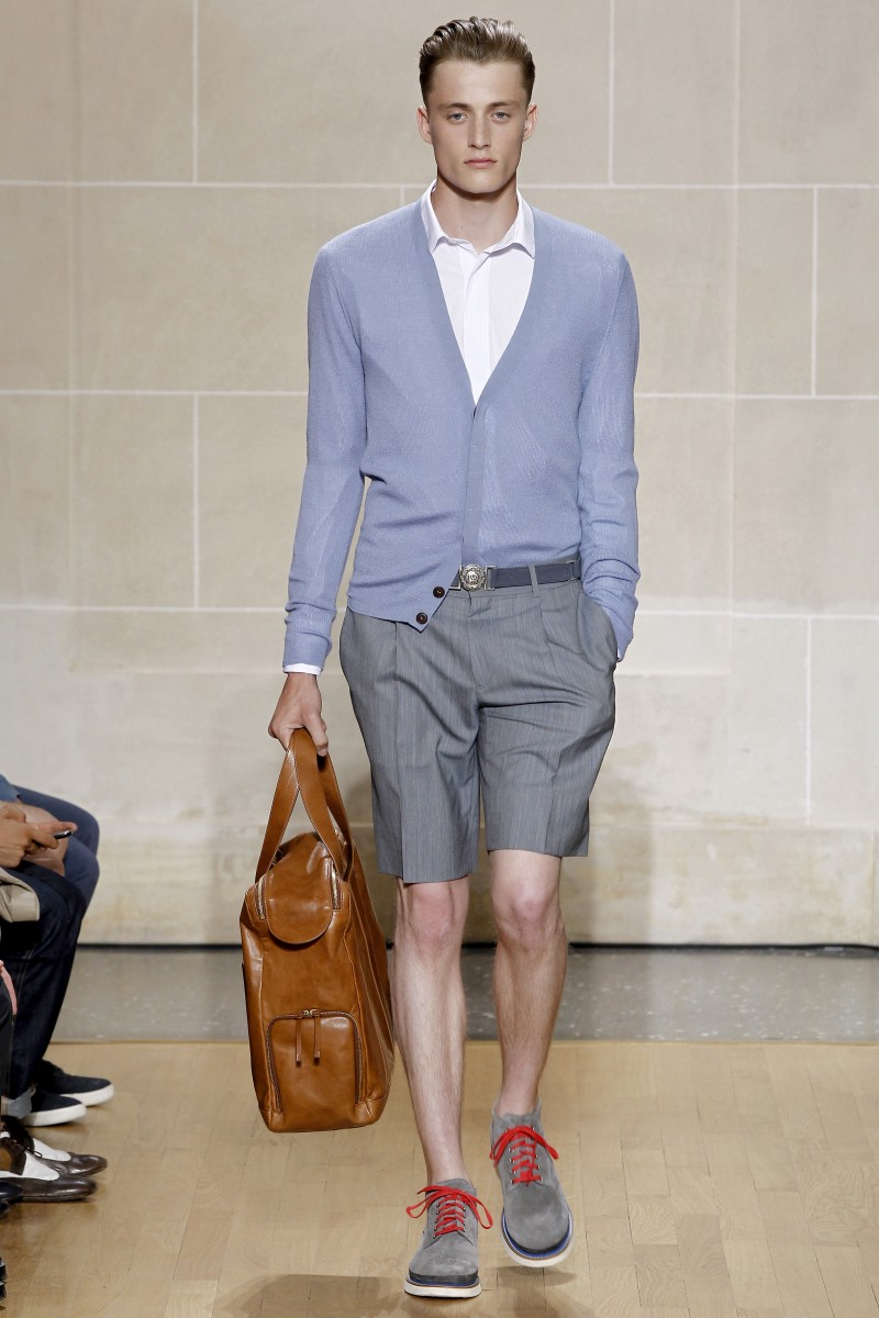 Dunhill's spring 2011 menswear collection paid a nod to the 1920s with slicked back hair and stylish, smart ensembles.