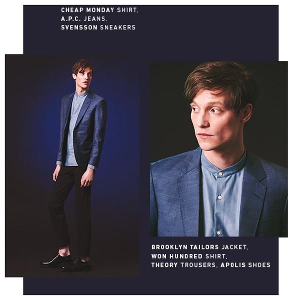 Black & Blue Looks Make for Stylish, Trendy Menswear Pairings from East Dane