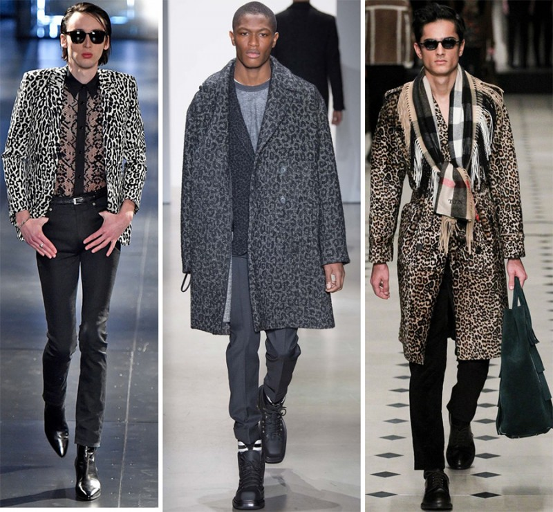 Left to Right: Saint Laurent, Calvin Klein Collection, Burberry Prorsum