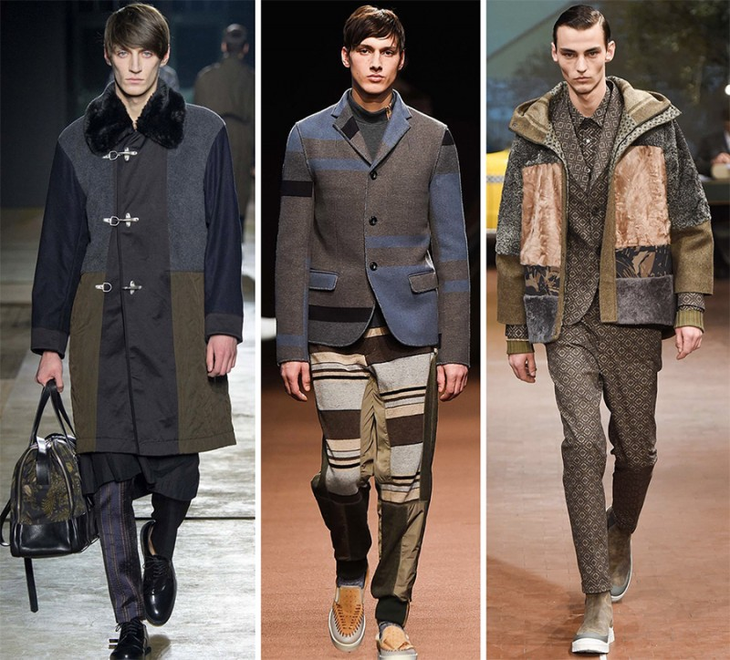 Left to Right: Dries Van Noten, Kolor, Antonio Marras