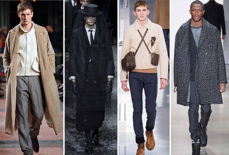 Left to Right: Billy Reid, Thom Browne, Louis Vuitton, Calvin Klein Collection