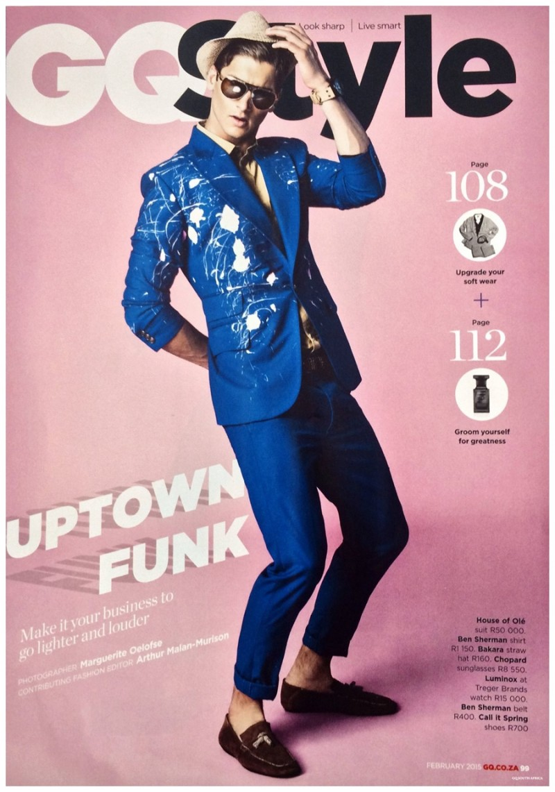 entonces Sí misma cocina  Uptown Funk: Campbell Pletts for GQ Style South Africa   The Fashionisto