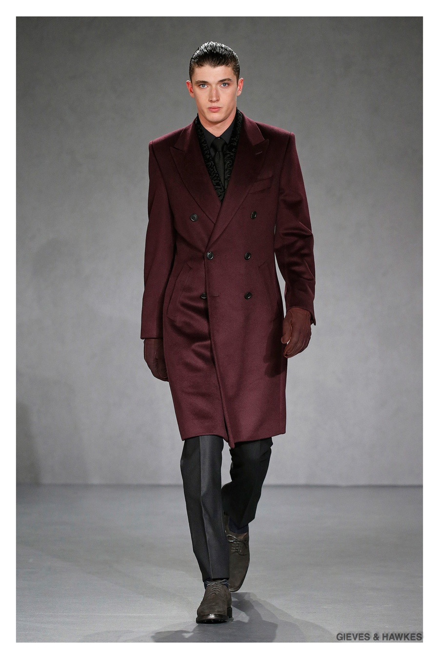 Gieves & Hawkes Showcases Rich Fall Colors for Sartorial Fall/Winter 2015 Menswear Collection
