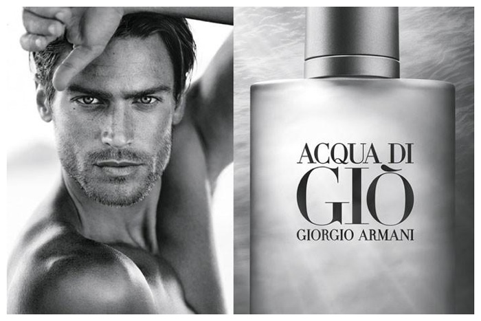 jason morgan poses for closeup for giorgio armani acqua