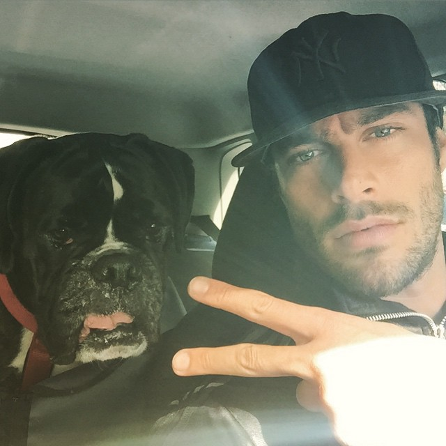 Goncalo Teixeira shares a picture with his best friend