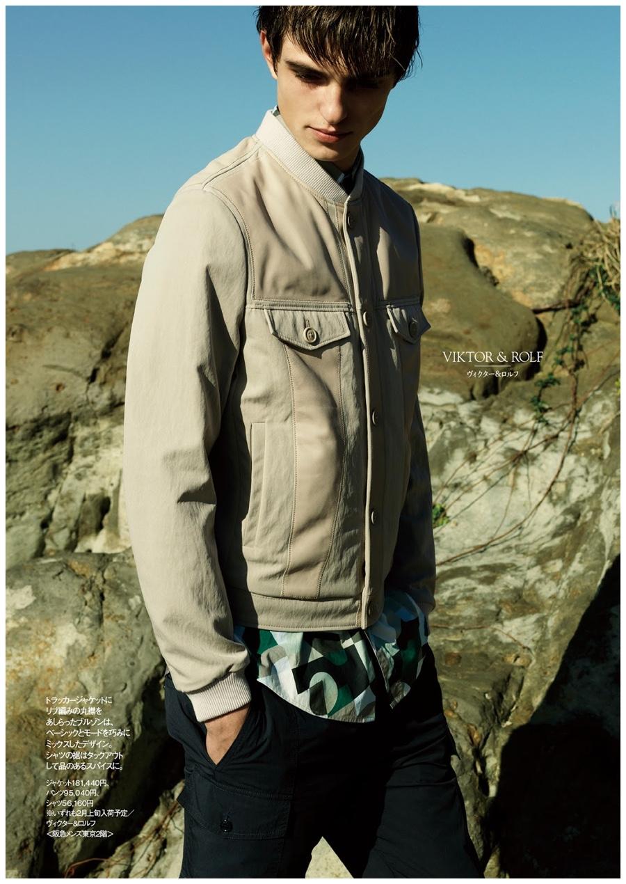Guerrino Santulliana Models Spring Designer Looks for Hankyu Fashion Editorial
